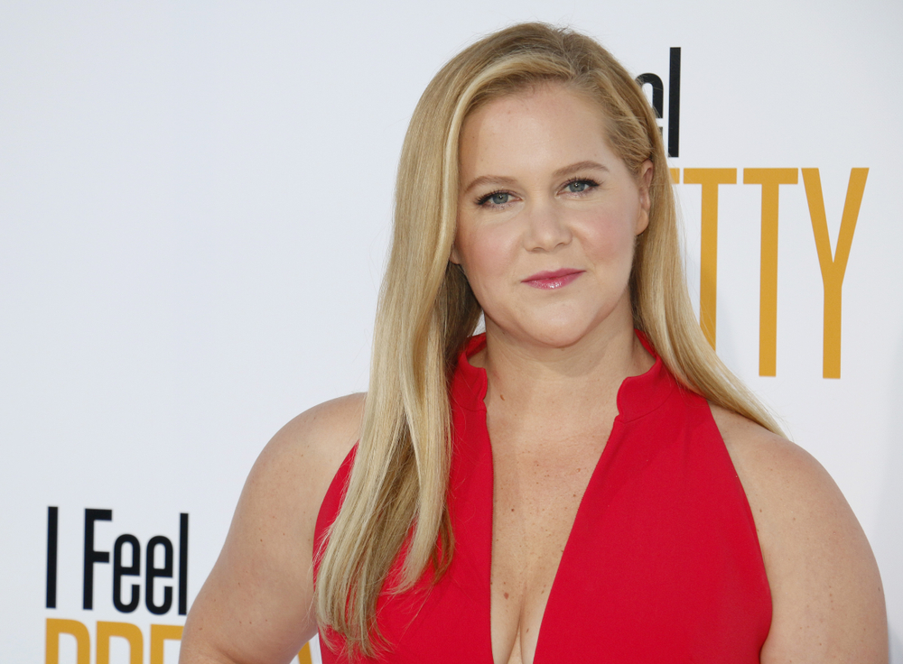 amy schumer at premier, a celebrity leading body positivity movement