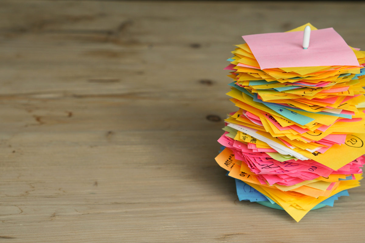 stack of post-it notes - effects of stress on memory