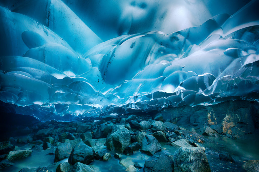 best places to see in america - Mendenhall Glacier Caves