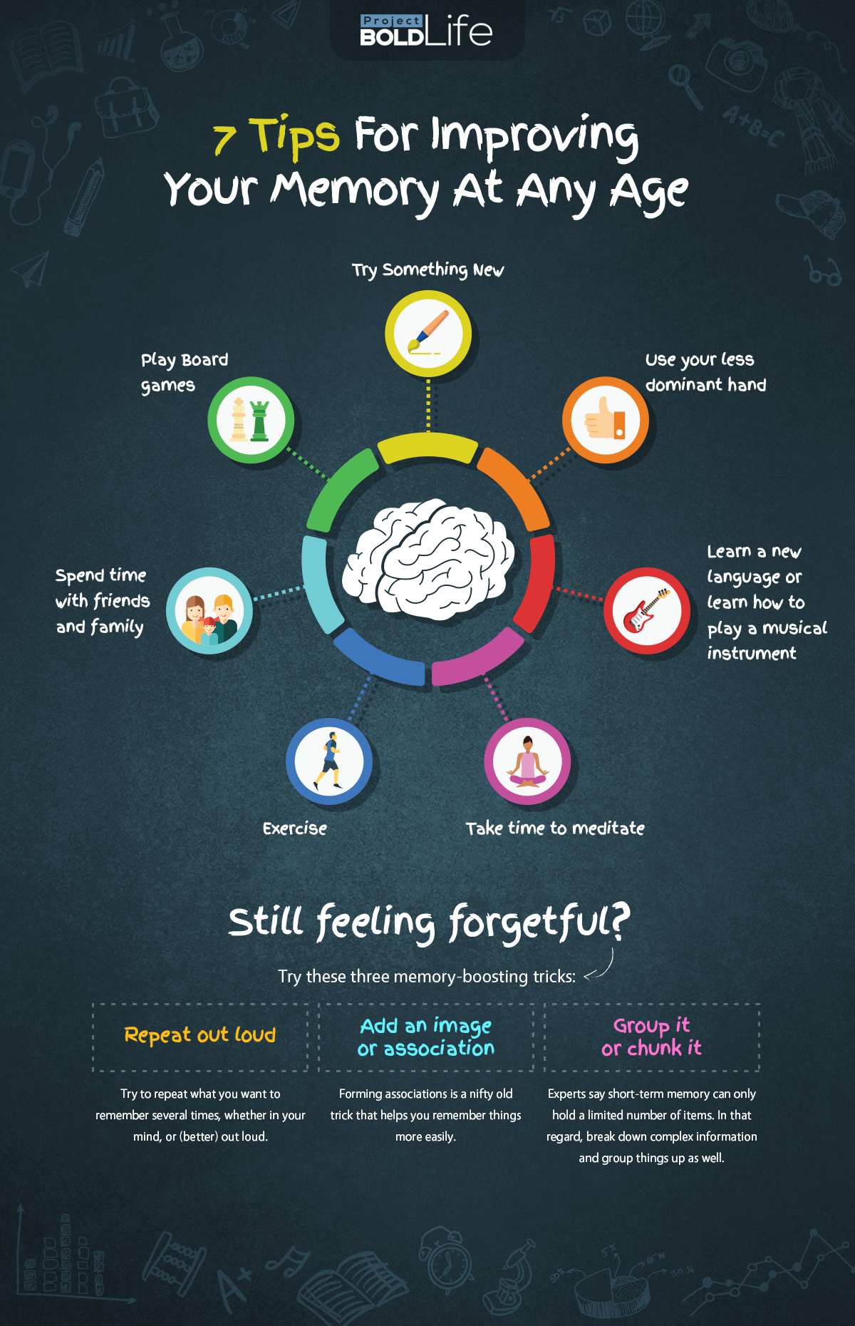 7 Tips for Improving Your Memory Infographic