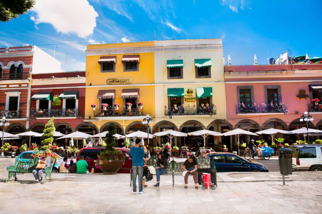 adventures in Mexico - Zocalo Square in Pueble, Mexico