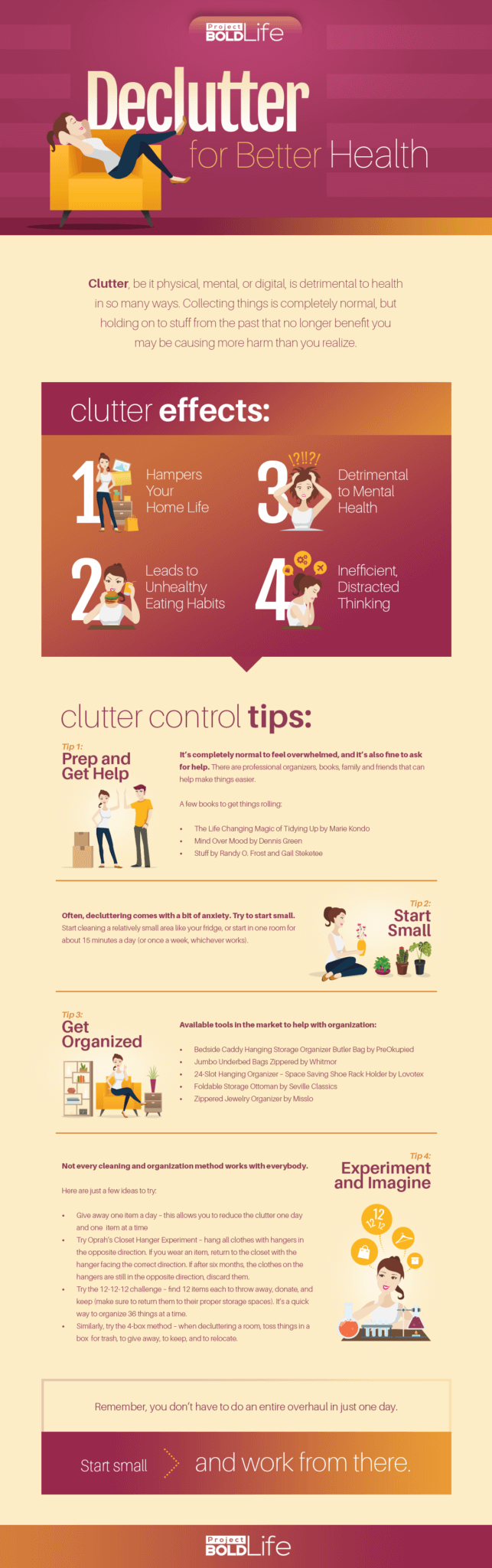 declutter for better health infographic