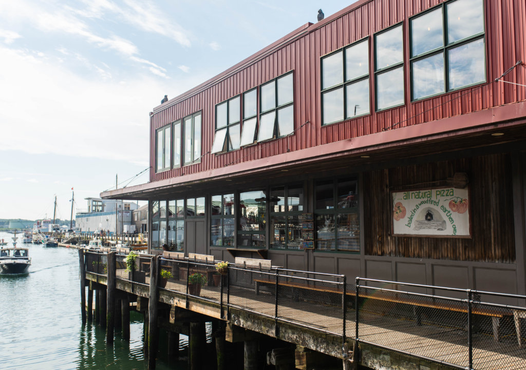 Restaurant and bar on the pier in Portland, Maine - cities for foodies
