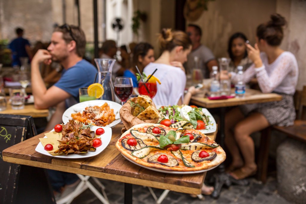 Traditional Italian food in Rome, Italy - cities for foodies