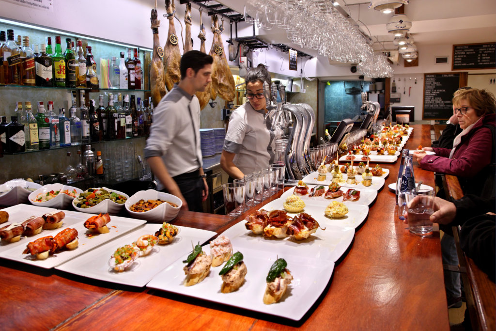 "Pintxos - Tapas bar (""Nagusia Lau"") in San Sebastian, Spain - cities for foodies"