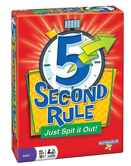 5 second rule family board game box cover