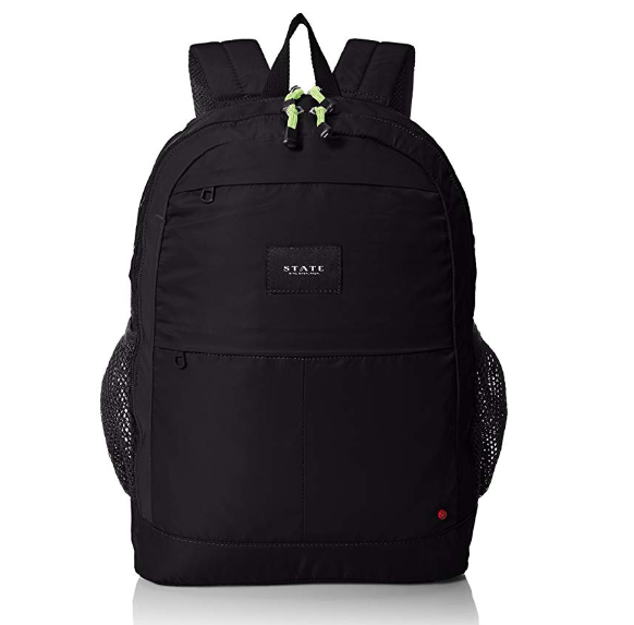 state backpack in black