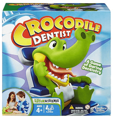 crocodile dentist family board game box cover