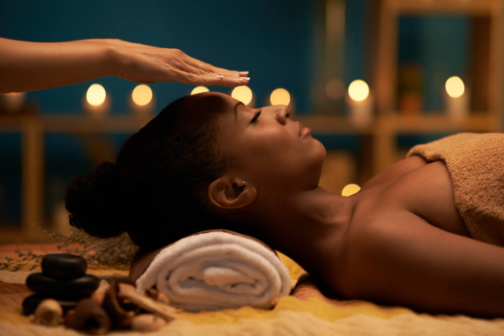 woman enjoying a beauty treatment at a spa destination