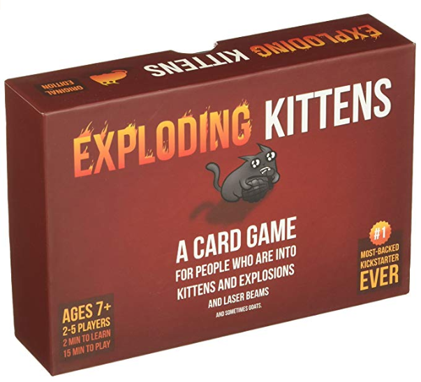 exploding kittens board game box cover