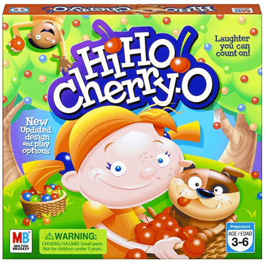 hi ho cherry-o family board game box cover
