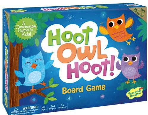 hoot owl hoot family board game box cover