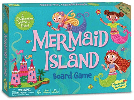 mermaid island family board game box cover