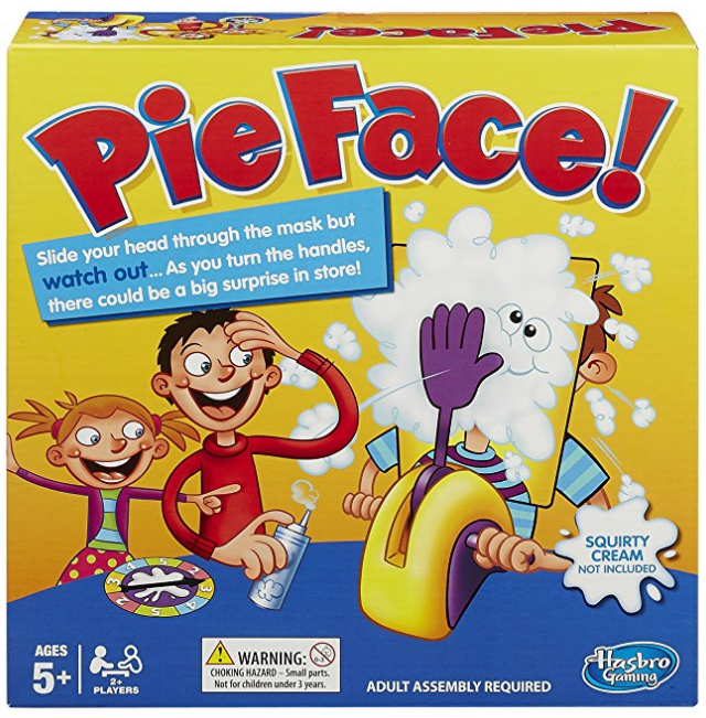 pie face family board games box cover