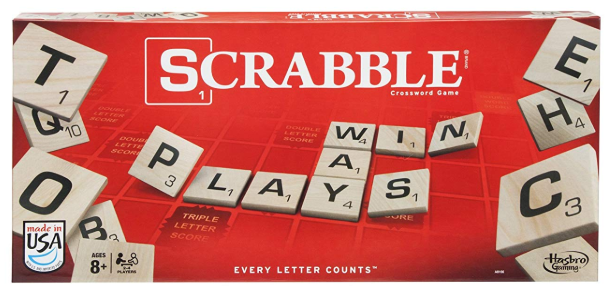 scrabble family board game box cover