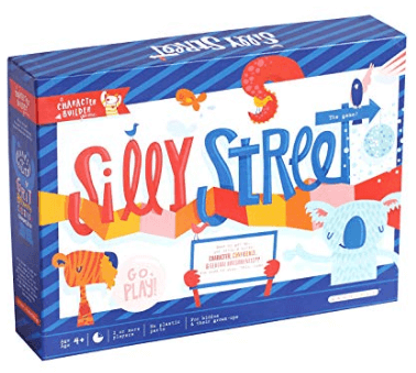 silly street family board game box cover