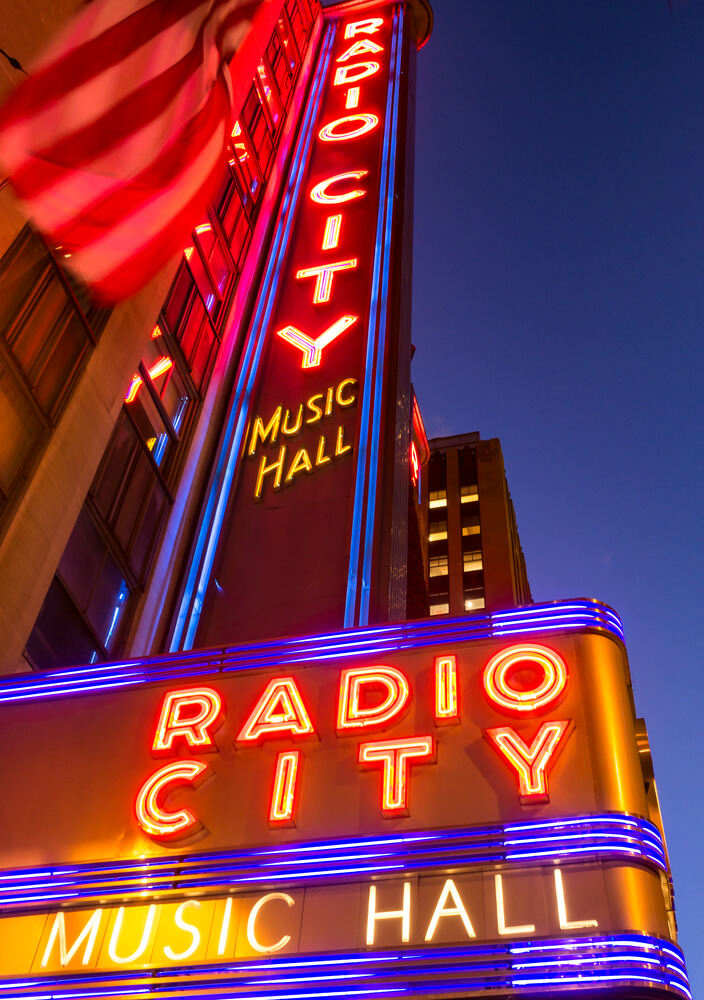 Radio City Music Hall in Manhattan one of the top concert venues in the world