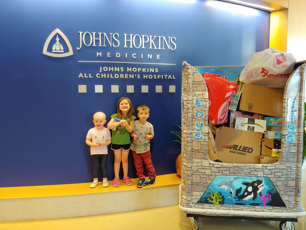 toy drive donation to johns hopkins all children's hospital in st. petersburg florida