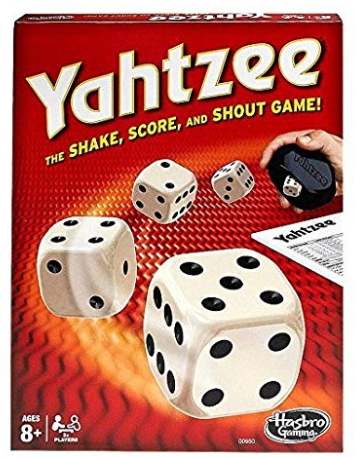 yahtzee family board game box cover