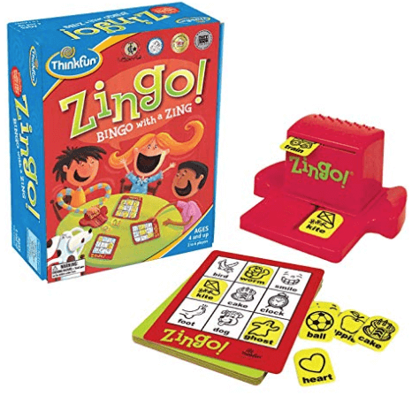 zingo family board game box cover