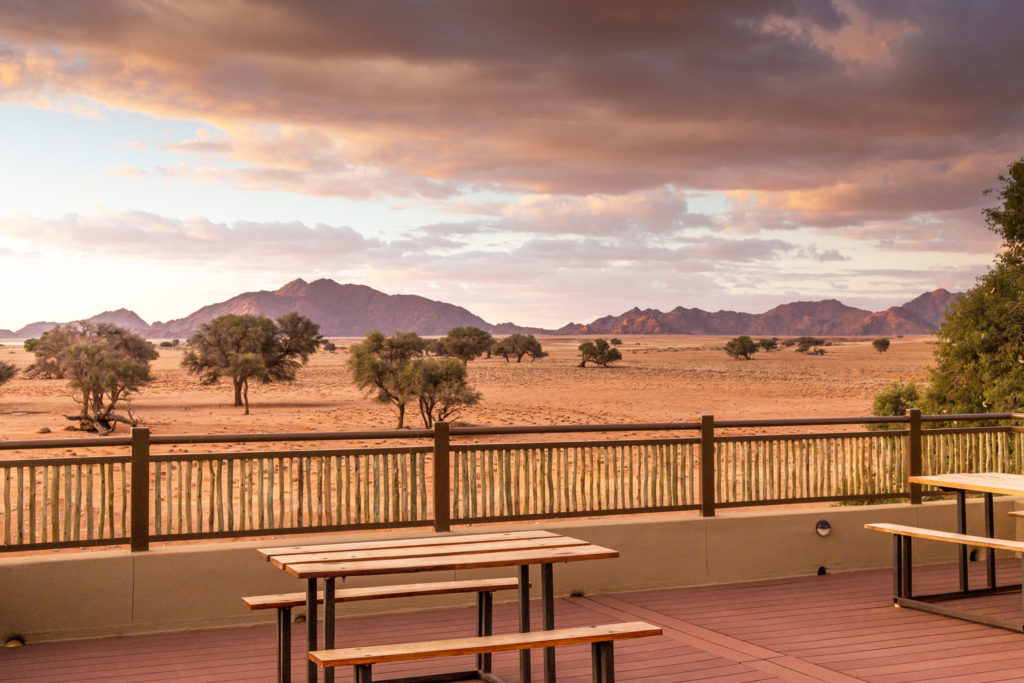"Sossusvlei Lodge on-site local ""watering hole"" for a sunset cocktail"