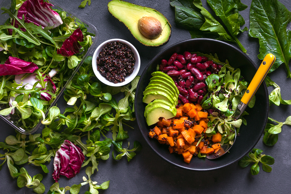bowl of foods that fit with a real food detox diet