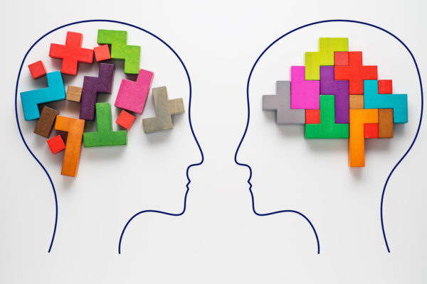two side by side brain comparisons to show better brain health