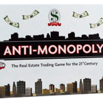 anti-monopoly game box, a fun board games for adults