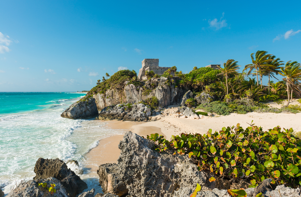 view of the mayan site of tulum - best beaches beyond cancun
