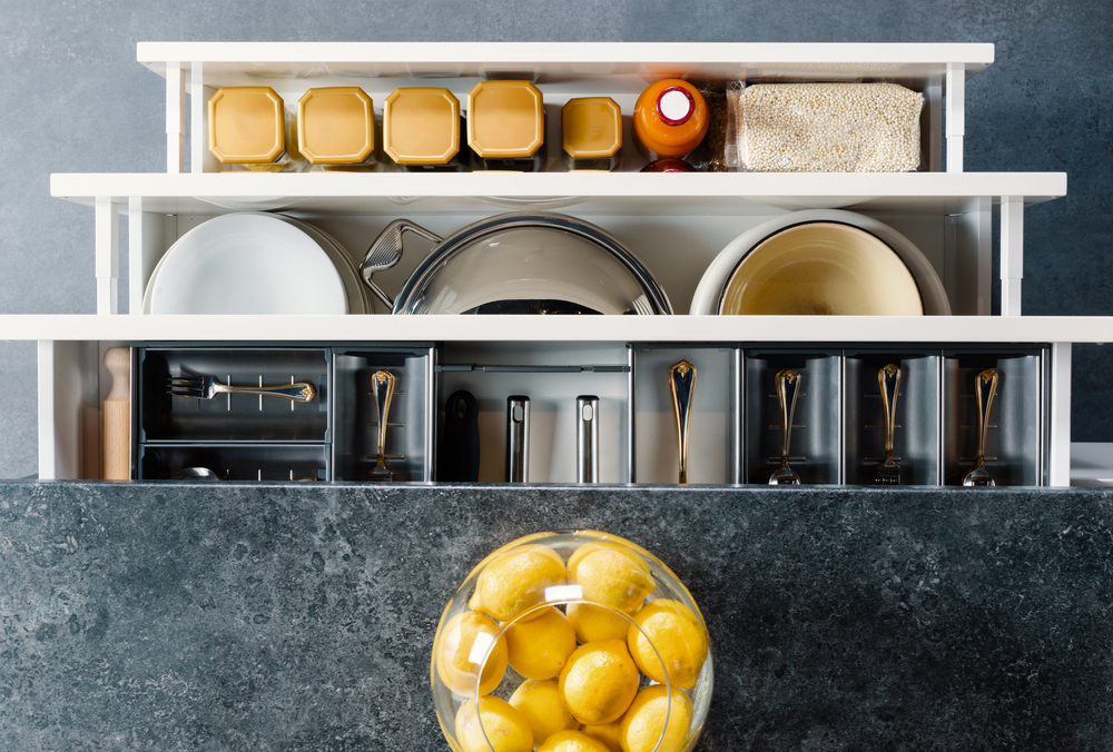 three organized kitchen drawers - how to declutter your life