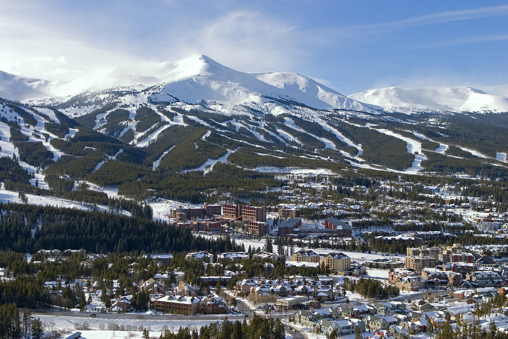 View of the mountain peaks in Breckenridge, Colorado - travel bucket list destination
