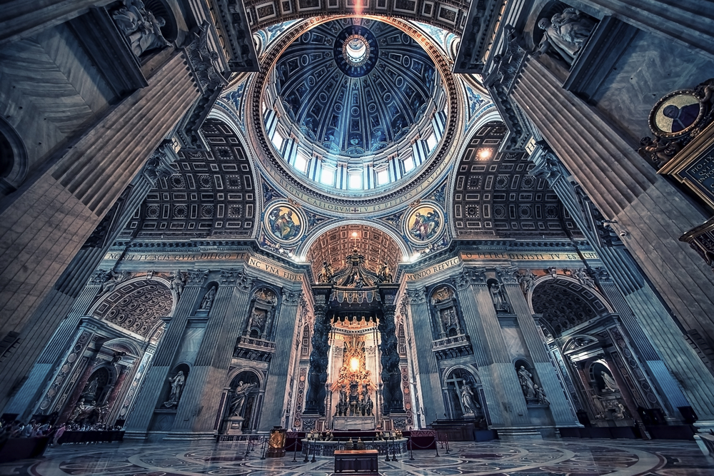 A look inside the St. Peter's Basilica in Vatican City - a bucket list travel destination