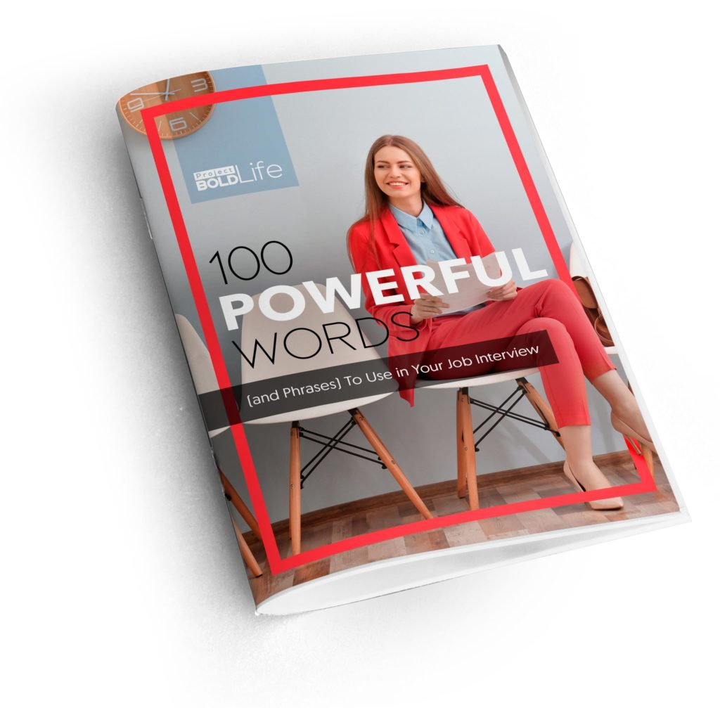 cover to the 100 powerful words to use in your job interview guide