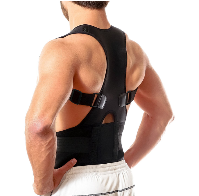 flexguard posture corrector device product shown on a man
