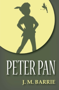 peter pan book cover by J.M barrie