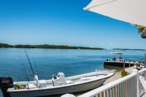 view of the water from a place to eat in islamorada