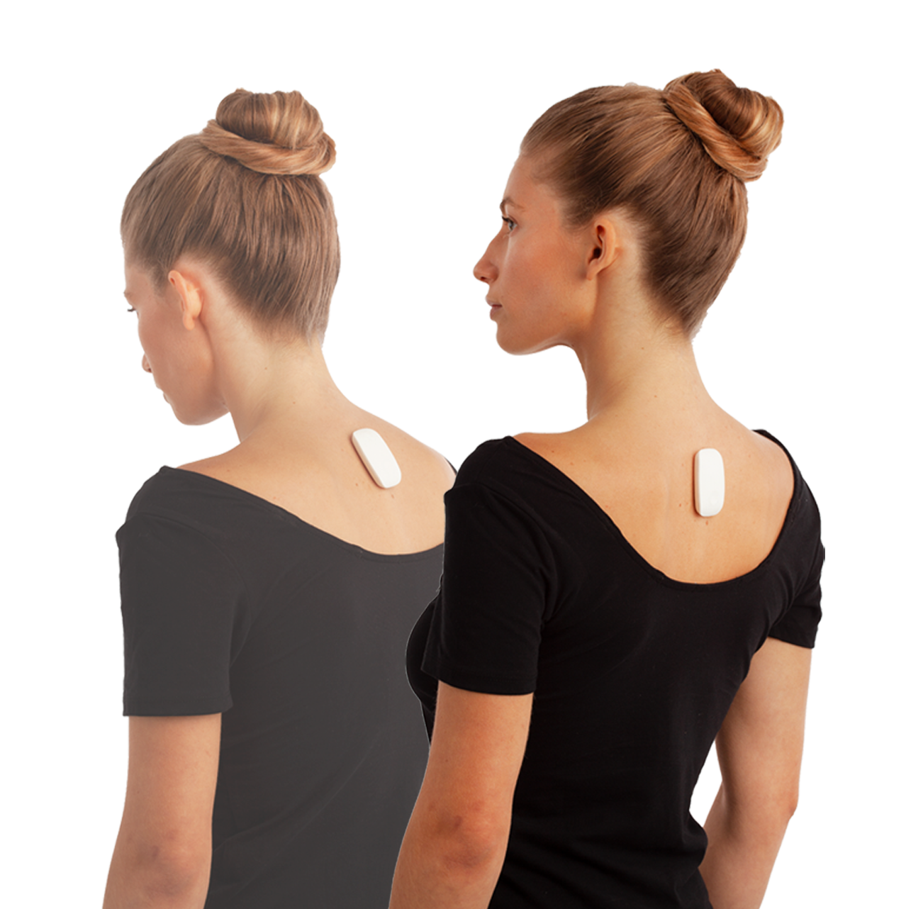 upright go posture corrector device on a woman's back