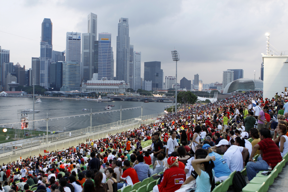 view of the singapore skyline from the formula 1 grand prix - a can't miss sports experience