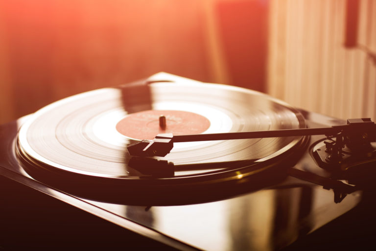 vinyl record on a record player - loved by millennial generation