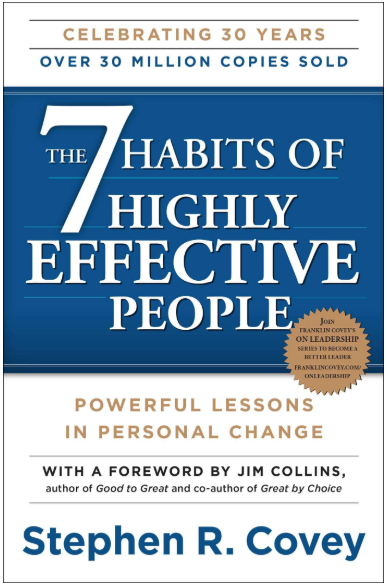 7 habits of highly effective people book cover - a best-selling self-help book