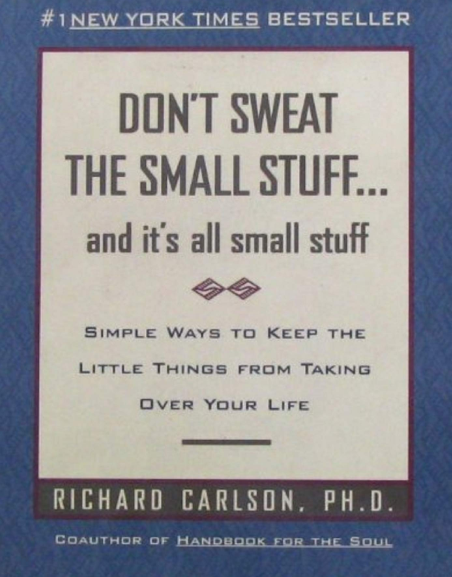 don't sweat the small stuff book cover - a best-selling self-help book