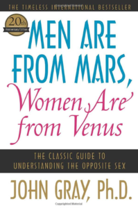 men are from mars, women are from venus book cover - a best-selling self-help book