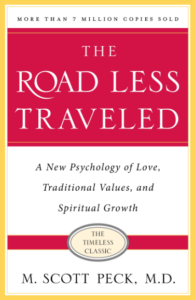 the road less traveled book cover - a best-selling self-help book