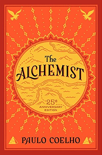 the alchemist book cover - a best-selling self-help book