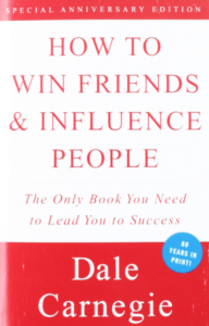 how to win friends and influence people book cover - a best-selling self-help book
