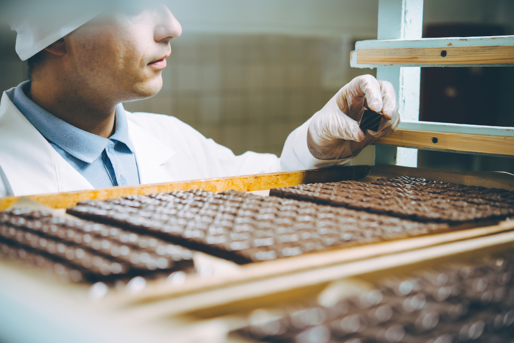 chocolate expert inspecting gourmet chocolate – fun unusual job