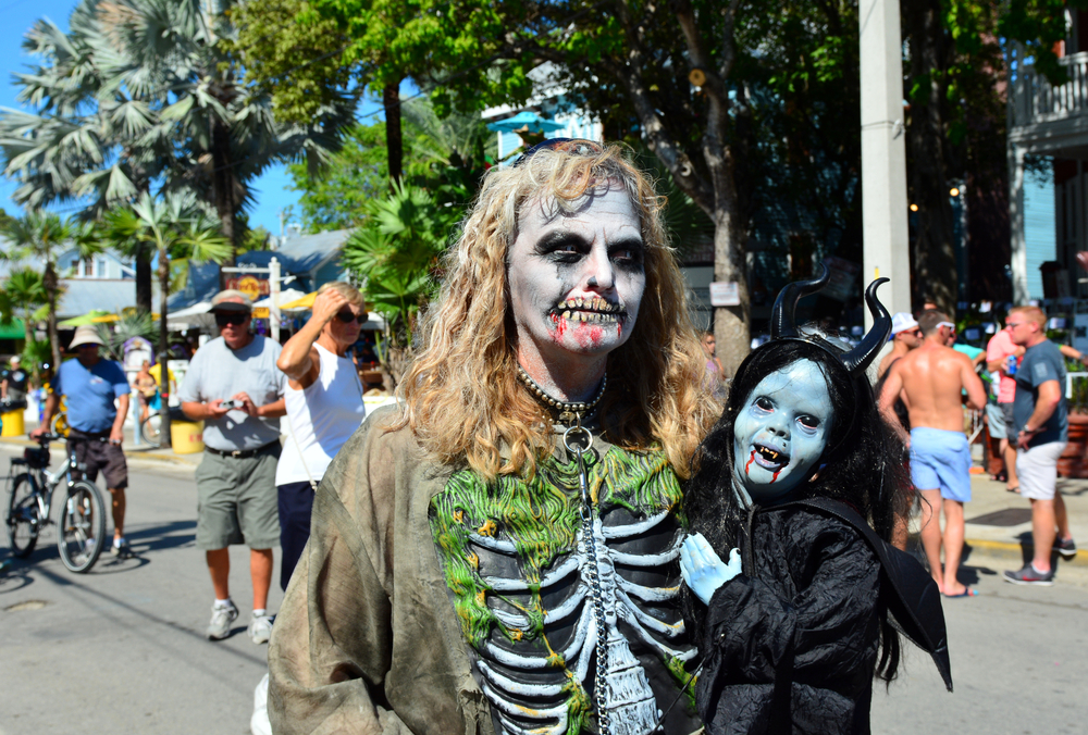 Fantasy Fest in Key West, Fl celebrating Halloween annually with a street fair and parade.