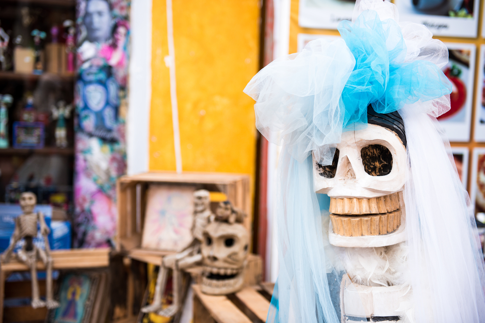 Oaxaca Mexico during Day of the Dead is a destination for celebration Halloween.