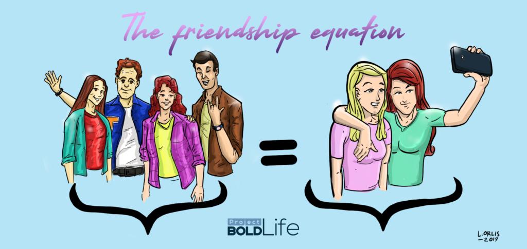 many friends versus 2 friends