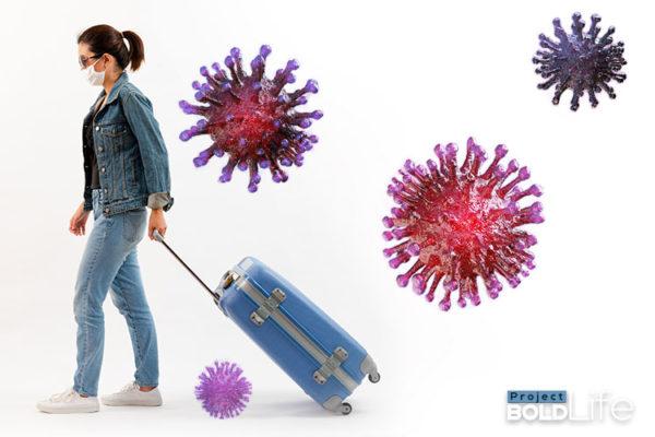 Women traveling during the age of coronavirus